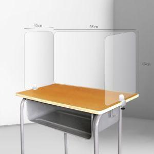 耐用桌上防疫隔板 - 三面_防疫隔板(A款金屬座)