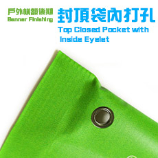 Top Closed Pocket with inside eyelet