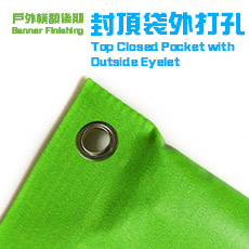 Top Closed Pocket with outside eyelet